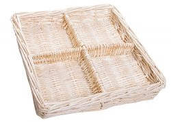 Natural Willow Snack Basket Tray Organizer – 11 Inches