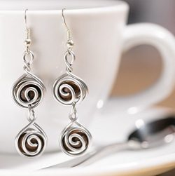 Espresso Coffee Bean Earrings For Coffees Lovers Gift for Women | Handmade Whole Beans Jewelry D ...