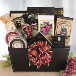 Elegant Vineyard Gourmet Wine Themed Holiday Gift Basket