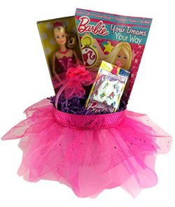 Barbie Themed Gift Box for Girls Kids Crafts Birthdays, Get Well, Prizes for Game or Fun Basket