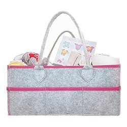 Baby Diaper Caddy Organizer – Large Portable Diaper Caddy Tote Bag- Baby Shower Gift Baske ...