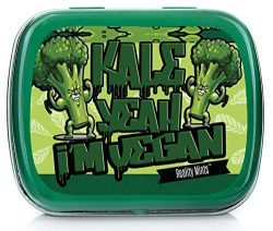 Kale Yeah I'm Vegan Mints – Funny Vegan Gift for Friends Silly Stocking Stuffers for Vegans Wint ...