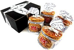 Verweij 100% Roomboter Siroopwafels (Butter Stroopwafels), 10.6 oz Packages in a BlackTie Box (P ...