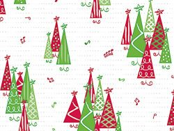 Pack of 100, Rockin' Trees 4 x 2 x 9″ Cello Bags 1.2 Mil for Christmas & Holiday ...