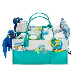 Baby Diaper Caddy Organizer – Nursery Storage Portable Large Diaper Organizer – Versatile  ...