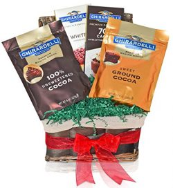 Ghirardelli Occasional Chocolate & Cocoa Variety Gift Basket – Mother's Day Gift ...
