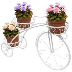 Sorbus Tricycle Plant Stand – Flower Pot Cart Holder – Ideal for Home, Garden, Patio ...