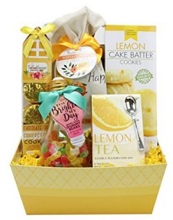 Mother's Day Assorted Yellow Gift Basket Set – Variety treats – Cookies, Candy ...