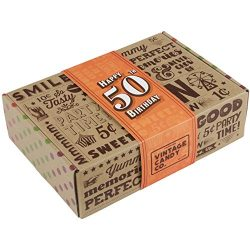 VINTAGE CANDY CO. 50TH BIRTHDAY RETRO CANDY GIFT BOX – 1968 Decade Nostalgic Childhood Can ...