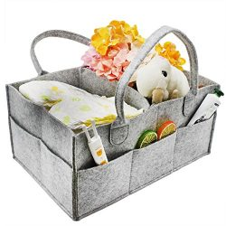 Baby Diaper Caddy Organizer – Newborn Nursery Storage Tote Carry On Travel Bag for Diapers ...