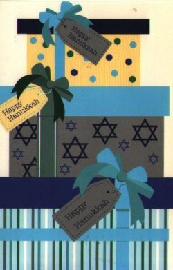 Chanukah Card 16 Holiday Hanukkah Cards 4 Each of 4 Designs With Envelopes 4″ X 6″