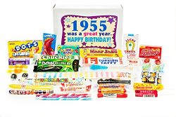 Woodstock Candy 63rd Birthday Gift Box of Nostalgic Retro Candy for a 63 Year Old Man or Woman B ...