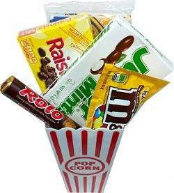 Movie Night Popcorn and Candy Gift Basket ~ Includes Movie Theater Butter Popcorn and Concession ...