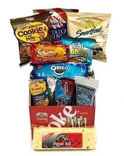 Snack Food Man Gift Basket – Gift for Men – Coca-Cola Coke Snack Gift with Crackers, ...