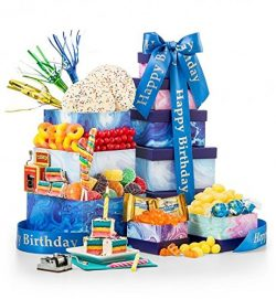 GiftTree Birthday Bliss Gourmet Gift Tower, Top Father's Day Gift