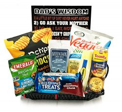Gift Basket For Men – Healthy Snack Gift Dad's Wisdom with Nuts, Jerky +More – ...