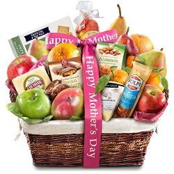 Golden State Fruit Gourmet Abundance Happy Mother's Day Fruit Basket Gift