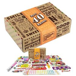 VINTAGE CANDY CO. 40TH BIRTHDAY RETRO CANDY GIFT BOX – 1978 Decade Childhood Nostalgic Can ...