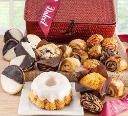 Dulcet Gourmet Food Gift Baskets- Includes: Black and Whites, Lemon Bundt Cake, Blueberry Muffin ...