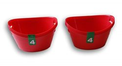 Plastic Red Bowls Crafting Organization – 8 Pack