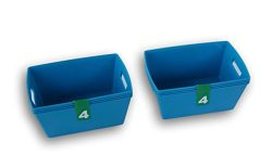 Cerulean Blue Plastic Crafting Organization Baskets – 8 Count