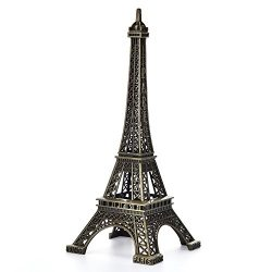 JoyFamily Eiffel Tower Decor,7Inch (18cm) Metal Paris Eiffel Tower Statue Figurine Replica Drawi ...