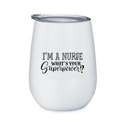 Funny Nurse Gift – I'm A Nurse What's Your Super Power? – 10 oz White St ...