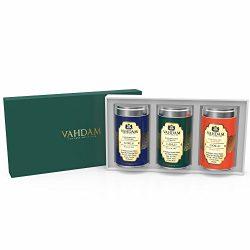 VAHDAM Luxury Tea Gift Box Set – Darjeeling Black Tea GOLD TRIO – Garden Fresh Loose Leaf  ...