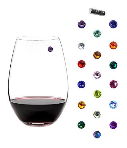 Swarovski Crystal Magnetic Wine Charms – Bundle of 3 Sets of 6 – Makes 18 Unique Gla ...