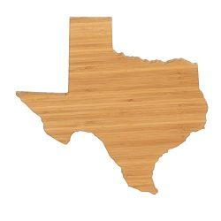 Cutting Board Company Texas Shaped Cutting Board, Bamboo Cheese Board