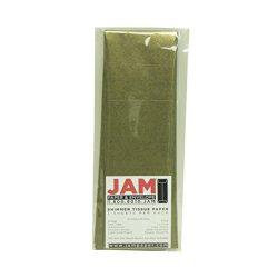 JAM Paper Shimmer Tissue Paper – Antique Brass Gold – 3 Sheets/pack