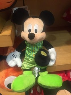Disney Parks 2017 Mickey Mouse St. Patrick Day Plush 10″ New with Tag
