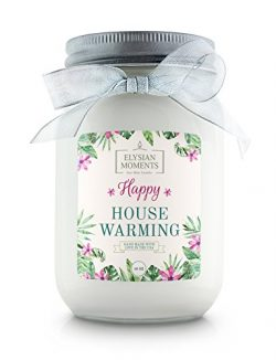 Elysian Moments Soy Wax Highly Scented HAPPY HOUSE WARMING Gift Candle VANILLA 16 oz