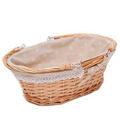 KRZIL Oypeip(TM) Father's Day Gift Basket Medium Oval Woven Willow Basket with Double Drop ...