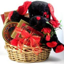 Gift Basket Village My Funny Valentine Deluxe Valentine Gift Basket