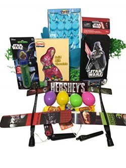 Star Wars Easter Basket Bundle with Star Wars Toys, Candy, and Easter Eggs