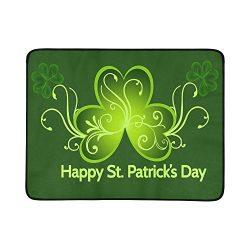 Fashion Custom ADEDIY Mat Happy St Patricks Day Portable and Foldable Mat 60×78 Inch Handy  ...