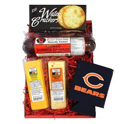 Bears Snacker Gift Basket – features Smoked Summer Sausages, 100% Wisconsin Cheeses, Crack ...