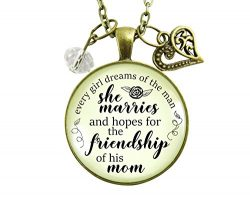 24″ Mother-In-Law Necklace Every Girl Dreams Mom Gift From Daughter In Law Wedding Day Fam ...