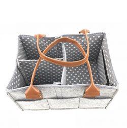 Baby Diaper Caddy | Nursery Storage Organizer | Baby Shower Gift Basket | Newborn Registry Baby  ...