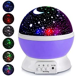 Projection Lamp Kids Light Moon Star projector Multicolor Changing with USB Cable,360 Degree Rot ...