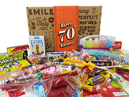 70TH BIRTHDAY RETRO CANDY GIFT BOX 1948 Decade Nostalgic Childhood Can