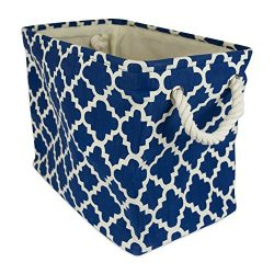 DII Collapsible Polyester Storage Basket or Bin with Durable Cotton Handles, Home Organizer Solu ...