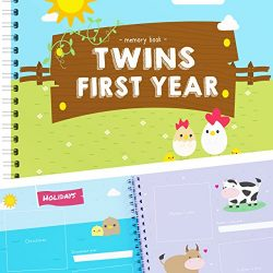 Newborn Twins by Unconditional Rosie – A Beautiful Baby Memory Book For Documenting Your T ...