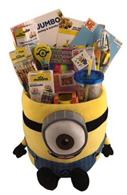 Extra Large JUMBO Despicable Me Minion Gift Basket Box for Boys or Girls Birthday, Get Well, Jus ...