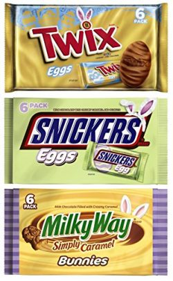 Mars Easter Candy Basket Gift Stuffer (3 Count Variety Bundle) – 1 (6 pack) Twix Chocolate ...