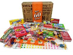 VINTAGE CANDY CO. 60TH BIRTHDAY RETRO CANDY GIFT BOX – 1958 Decade Nostalgic Candies ̵ ...