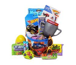 Hot Wheels Car Themed Easter Basket Candy and Toy Gift
