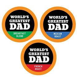 World's Greatest Dad – 24 Single Serve Coffee K-Cups Variety Cups