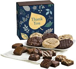 Fairytale Brownies Thank You Cookie & Magic Morsel Combo Gourmet Food Gift Basket Chocolate  ...